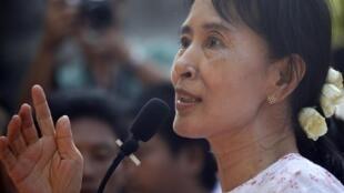 Aung San Suu Kye, líder opositora birmana y Premio Nobel de la Paz 1991.
