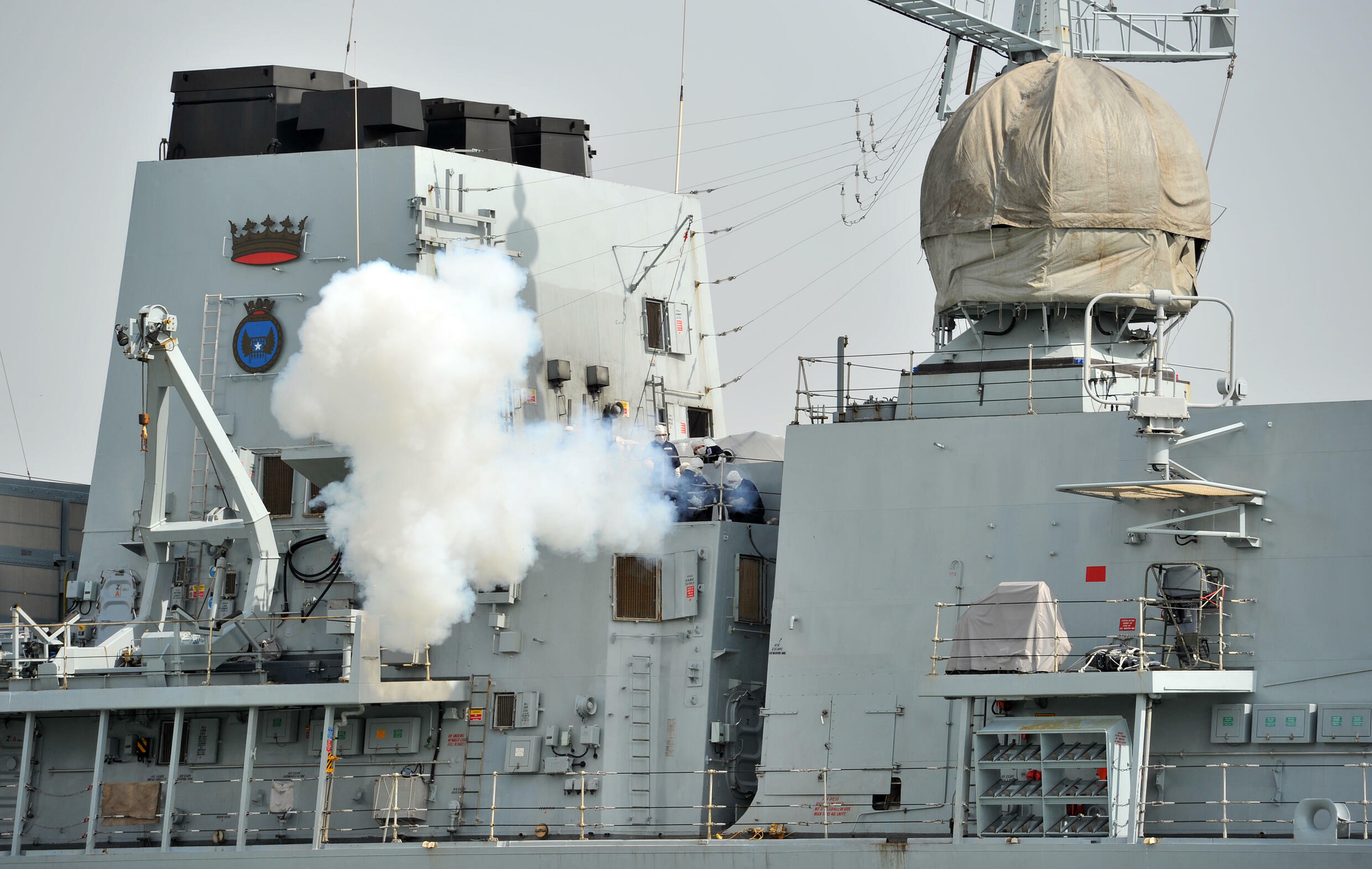 HMS Richmond is a frigate deployed with Britain's aircraft carrier strike group