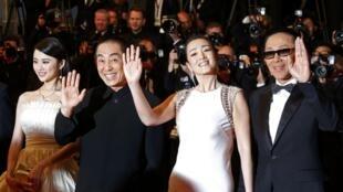中国导演张艺谋携《归来》主演亮相戛纳电影节