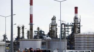 Nhà máy lọc dầu ở Donges (Loire-Atlantique), một trong bốn cơ sở bãi công
