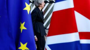 La Première ministre britannique Theresa May photographiée lors du sommet européen du 13 décembre 2018 à Bruxelles.