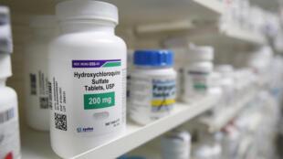 Un frasco de hidroxicloroquina en una farmacia de la ciudad de Provo, Utah, Estados Unidos, el 20 de mayo de 2020