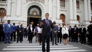Francisco Sagasti a été élu lundi 16 novembre 2020 nouveau président du Pérou par intérim.
