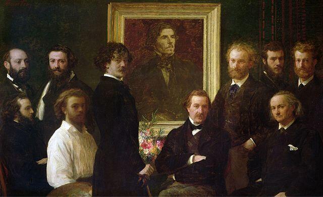 """""""Homenaje a Delacroix"""", 1864."""