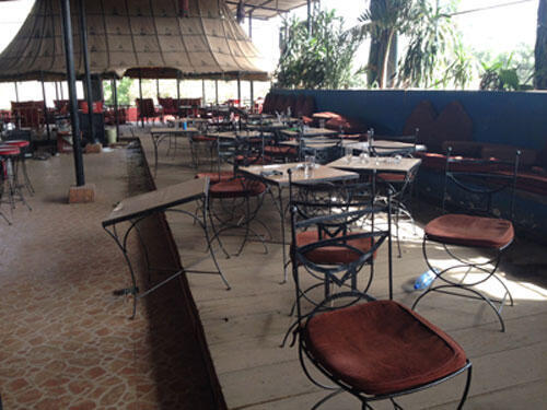 La Terrasse restaurant in Bamako after the attack that left five dead
