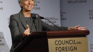 Former French finance minister now IMF chief Christine Lagarde
