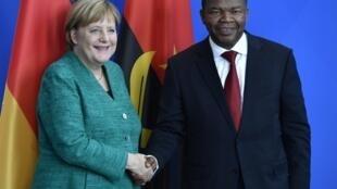 A chanceler alemã, angela Merkel, e o presidente angolano, João Lourenço. Berlim, 22 de Agosto de 2018.