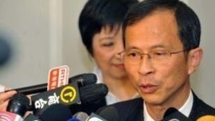 资料图片:香港本届立法会主席曾钰成
