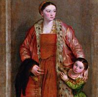 <strong><em>La Comtesse Livia da Porto Thiene et sa fille Porzia, </em></strong>Véronèse&nbsp;vers<strong><em> </em></strong>1551. The Walters Art Museum, Baltimore.