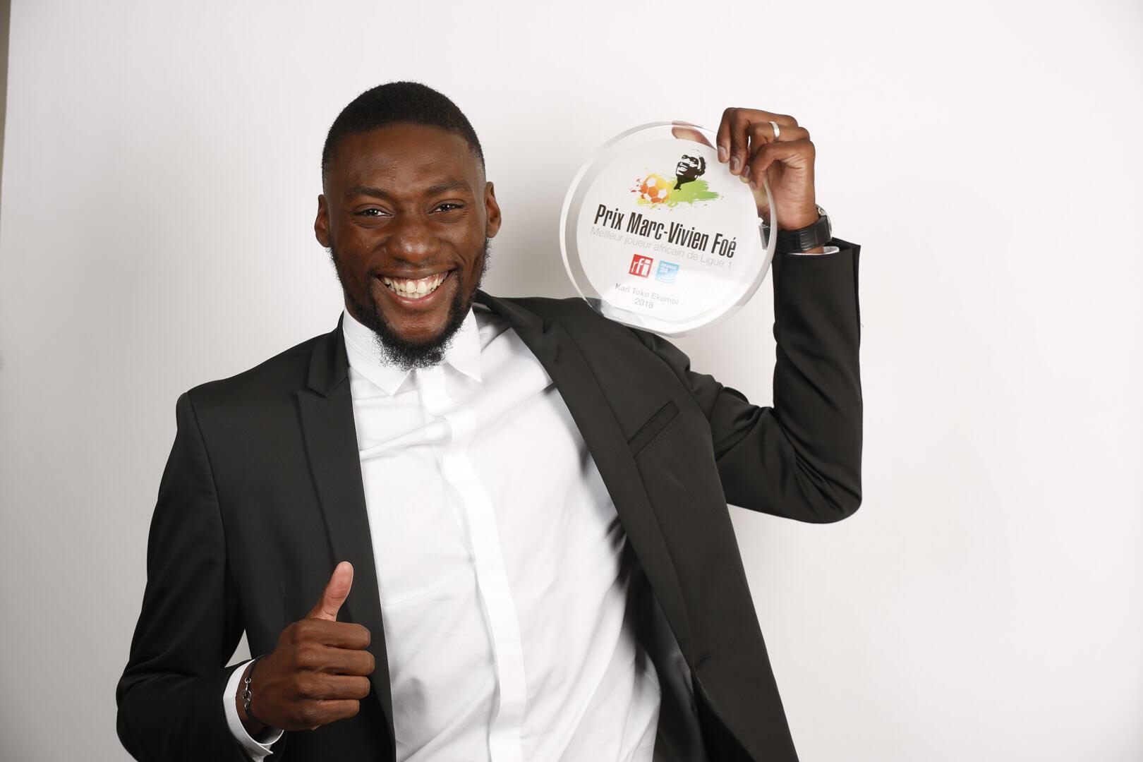 Karl Toko Ekambi, vencedor do Prémio Marc-Vivien Foé 2018.