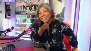 Verónica Musalem en los estudios de RFI