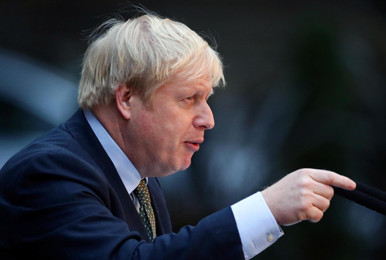 Lãnh đạo nội các Anh Boris Johnson tại phủ thủ tướng, Luân Đôn, ngày 13/12/2019.