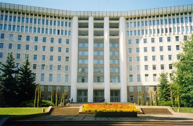 Здание парламента Молдовы в Кишиневе