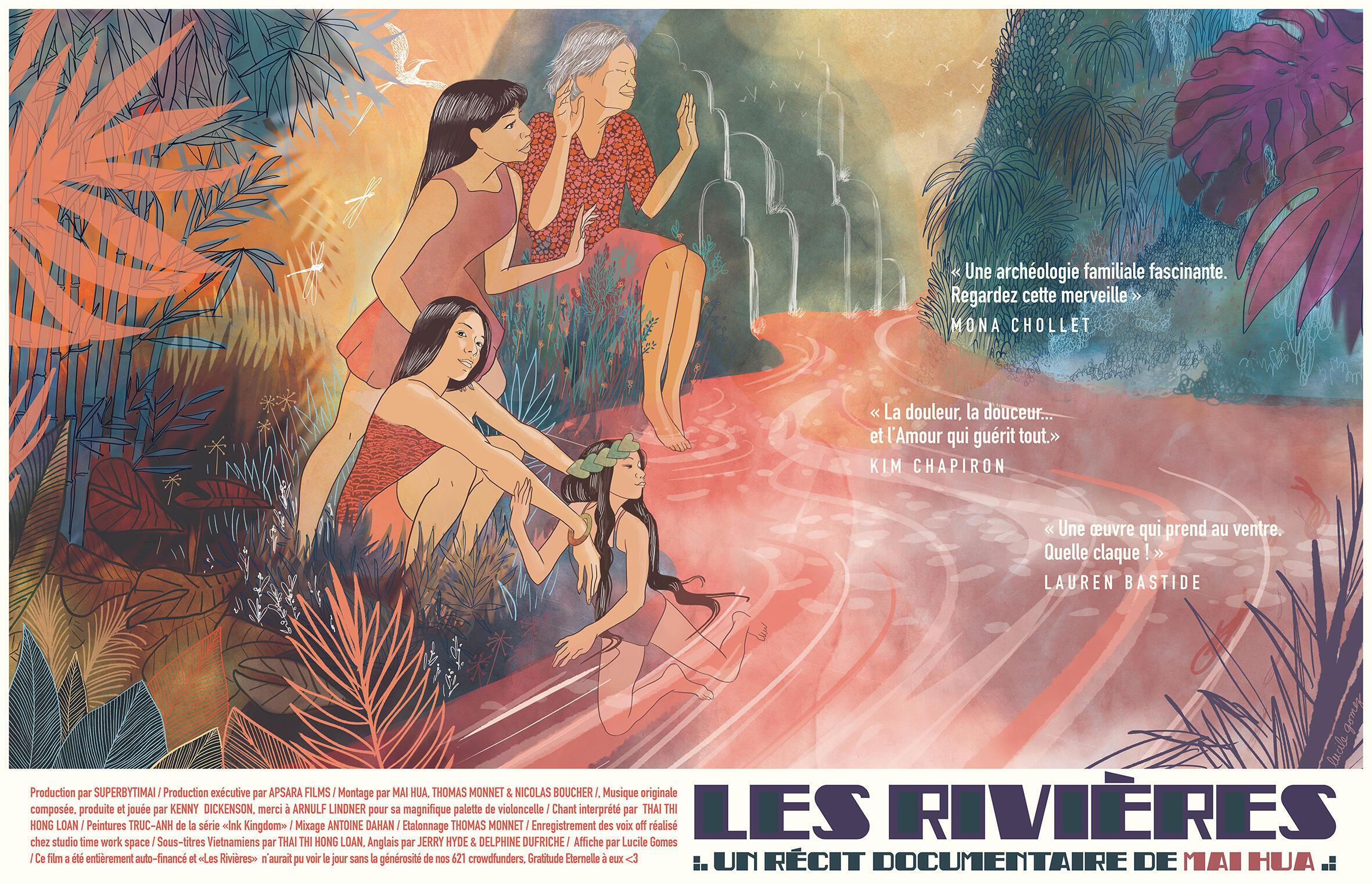 Áp phích phim Les Rivières (Những dòng sông) của Mai Hua.