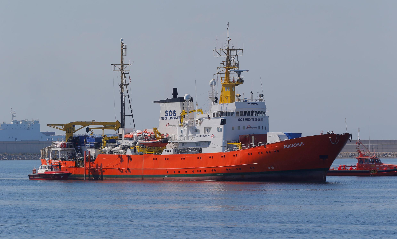 Le navire Aquarius 水瓶座号海上救援船