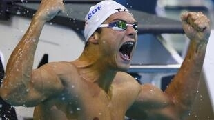 Cuarta medalla para Florent Manaudou en 50 metros nado libre.