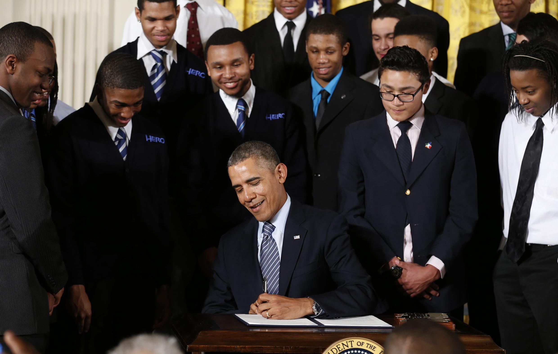 Barack Obama a lancé, ce 27 février 2014 un programme de soutien aux jeunes défavorisés.