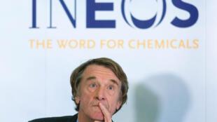 Jim Ratcliffe, président et chef de la direction de la société pétrochimique Ineos, basée en Suisse, le 20 novembre 2014, à Londres.