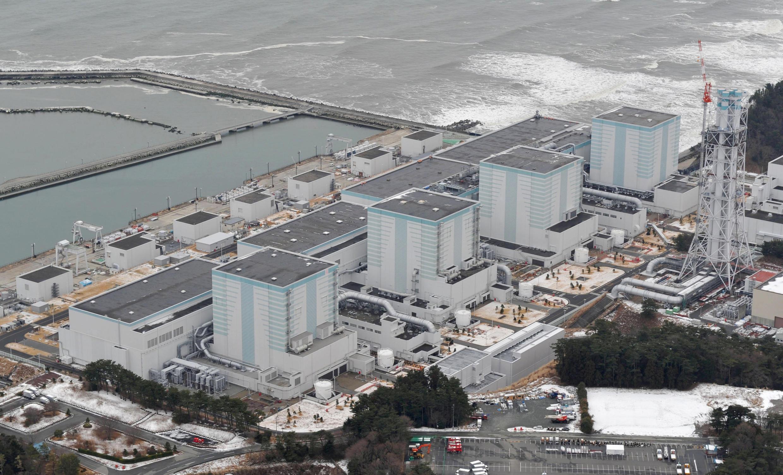 圖為日本福島東電核電站鳥瞰