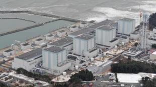 图为日本福岛东电核电站鸟瞰