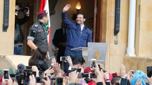 លោកនាយករដ្ឋមន្ត្រីលីបង់ Saad Hariri ពេលទៅដល់បេរូត ថ្ងៃទី២២ វិច្ឆិកា ២០១៧