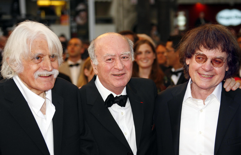 Cavanna, Wolinski e Cabu, os três líderes do Hara-Kiri e do Charlie Hebdo.