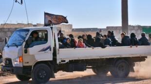 逃離阿勒頗的敘利亞人,2016年11月28日