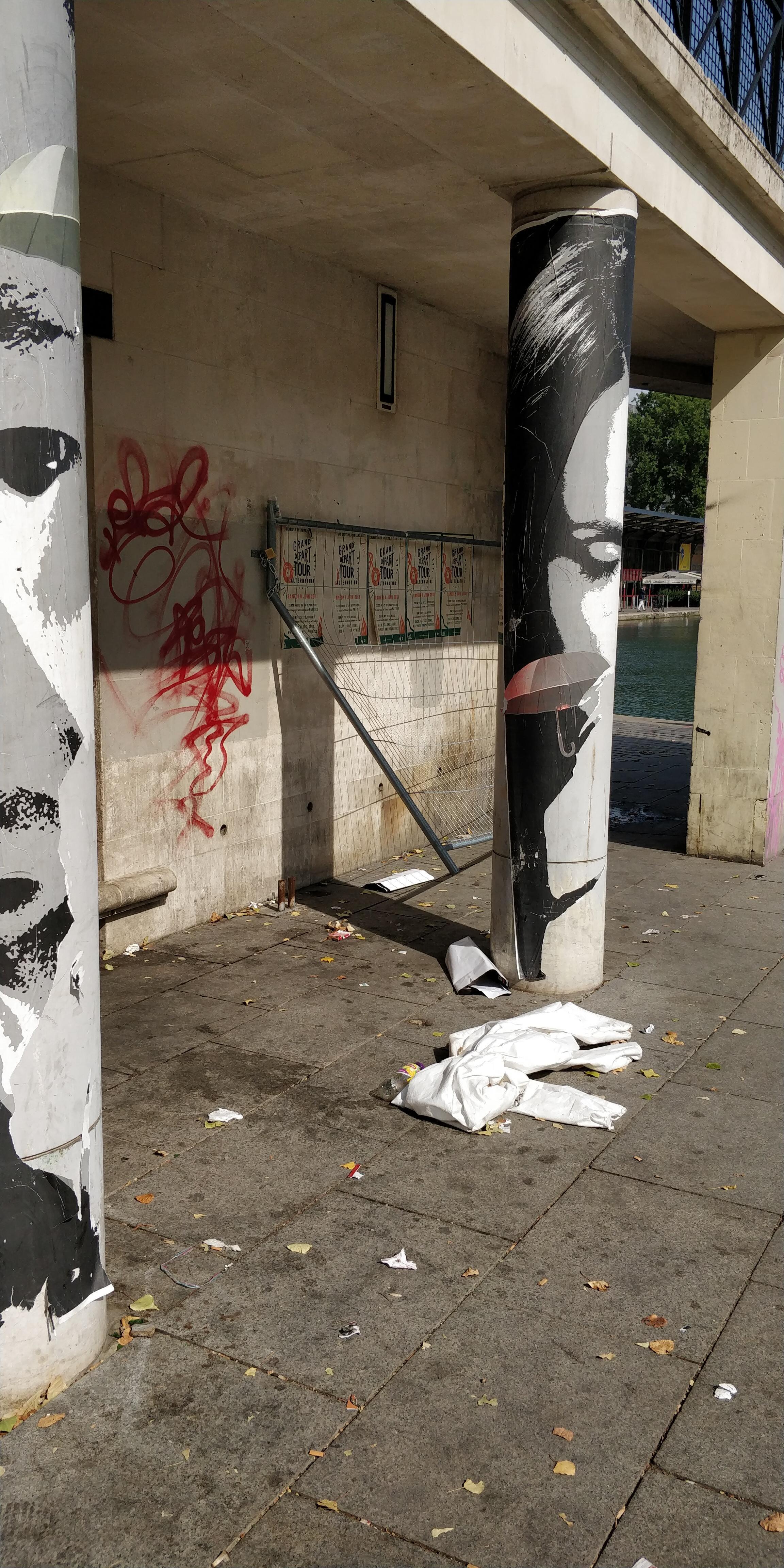 Ponto de consumo de crack em Paris