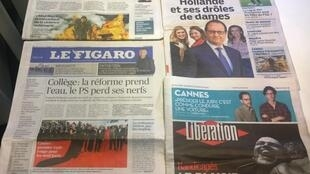 Diários franceses 14/05/2015