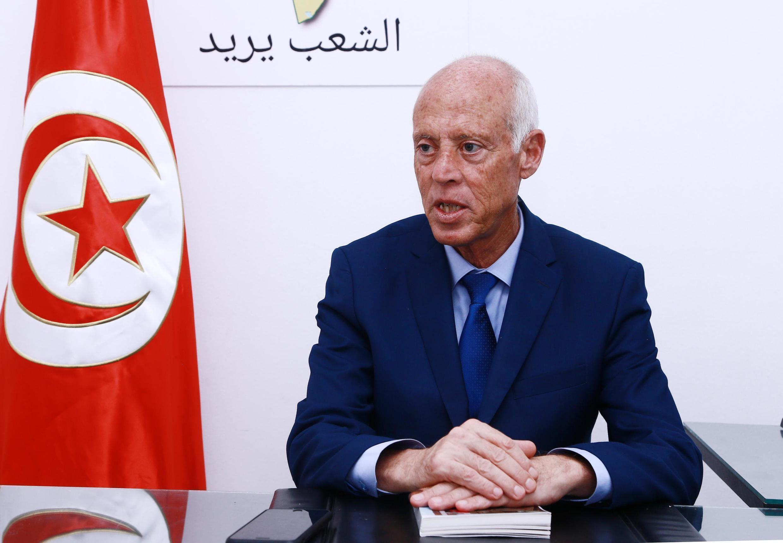 Image RFI Archive - Tunis - Kaïs Saïed