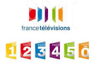 Les logos des chaînes publiques de France télévisions.