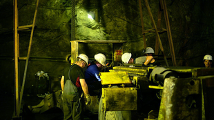 Inside the Trepça mine.
