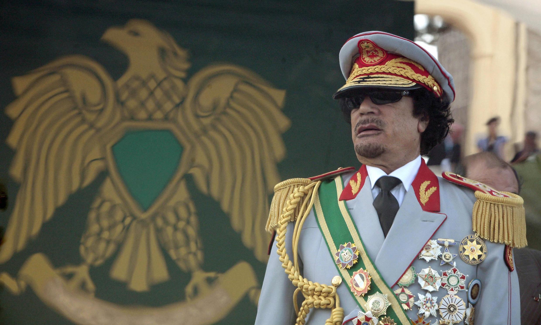 Ливийский диктатор Муаммар Каддафи в ходе празднования 40-летия его прихода к власти 1 сентября 2009 года
