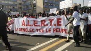 Manifestation à Dakar le vendredi 13 décembre contre le coût de l'électricité, entre autres.