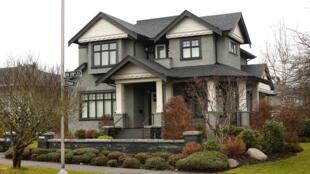 加拿大温哥华一处属于孟晚舟家的宅邸,路透社12月8日拍摄。