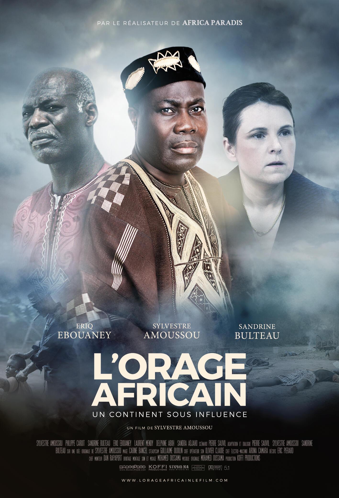 Affiche de «L'orage africain», nouveau film du réalisateur Sylvestre Amoussou.