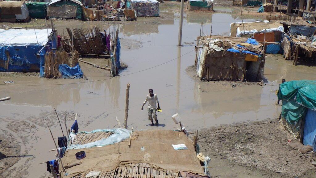 Picha ikionesha athari za mafuriko nchini Sudan