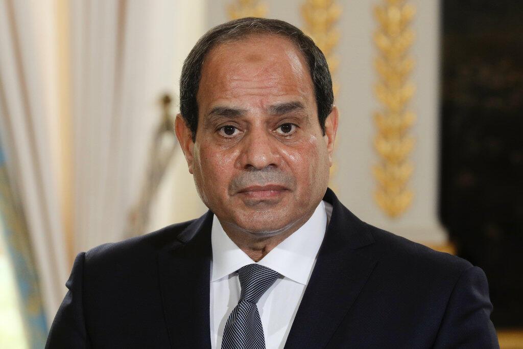 Tổng thống Ai Cập Abdel Fattah Al Sissi, ngày 24/10/2017 tại Paris.