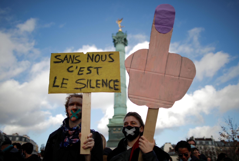 2020-12-15 france covid-19 coronavirus culture sector protests lockdown bastille