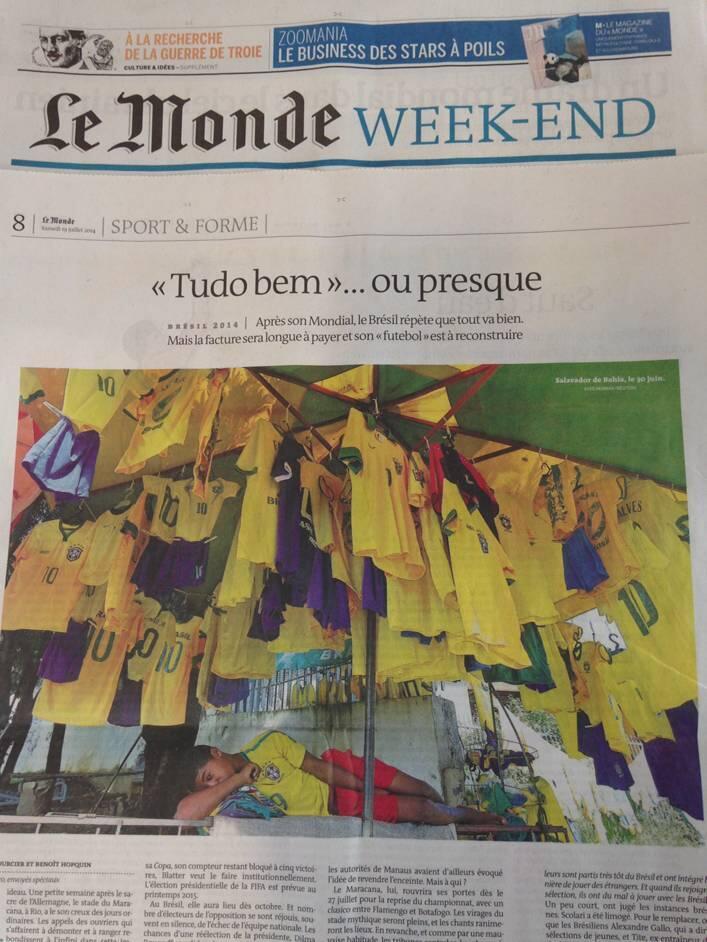 Reportagem da página inteira do Le Monde desta sexta.