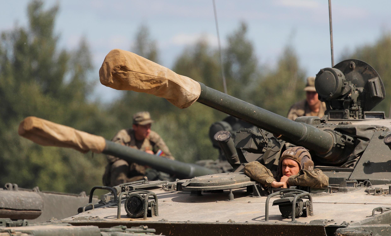 Ảnh minh họa : Nga - thao diễn quân sự tại vùng Alabino, ngoại ô Matxcơva. Ảnh 23/08/2018.