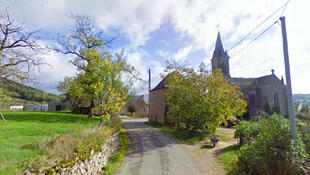 The village of Vabre-Tizac, Aveyron