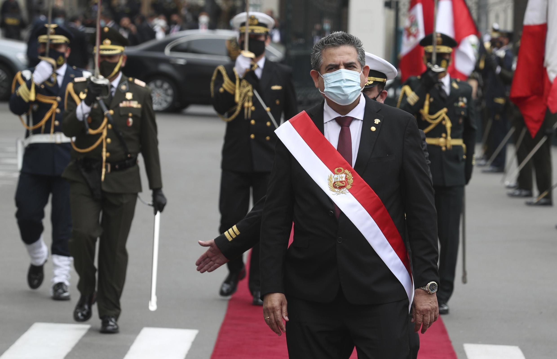 Manuel Merino, le 10 novembre 2020.