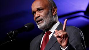 René Préval en septembre 2010 à New York lors d'une réunion de l'Initiative globale pour Haïti lancée par l'ancien président américain Bill Clinton.