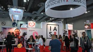 La 10e conférence de l'International AIDS Society (IAS), à Mexico le 22 juillet 2019.