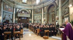 Франциск I в церкви Святой Анны
