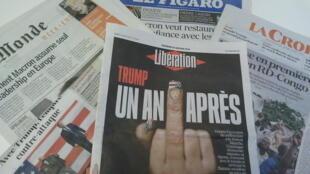 Primeiras páginas dos jornais franceses de 19 de janeiro de 2018