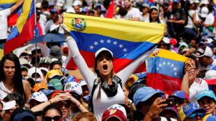 Wanawake waandamana Caracas,  6 mai 2017.