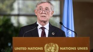 L'envoyé spécial de l'ONU sur le Sahara, Horst Köhler, à l'issue des discussions sur le dossier sensible du Sahara occidental.