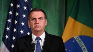 Le président brésilien Jair Bolsonaro rencontrera son homologue américain Donald Trump, le 19 mars 2019.